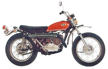 画像: 1969 HUSTLER 250(TS250 1型) 初代のハスラー250。それまでスズキは、2サイクル2気筒のロードスポーツ、T250にひとまわり太いタイヤとアップマフラーを装着したストリートスクランブラー、TC250を市販していたが、ハスラー250は世界モトクロスGPで活躍したワークスマシーンRH系の技術を生かした2サイクル単気筒の本格的トレールモデルで、モトクロス用のキットパーツも揃っていた。