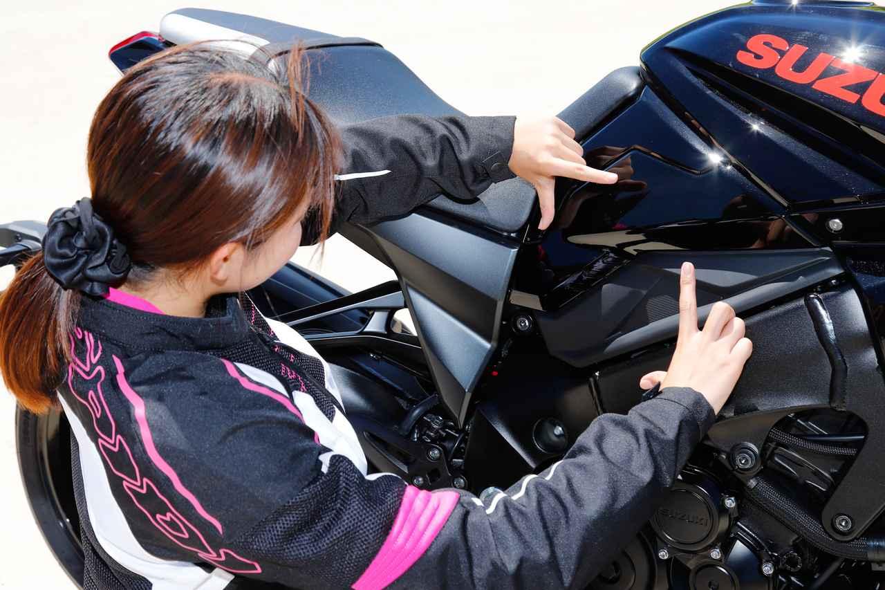 Images : 13番目の画像 - 【ゆるふわ 3枚刃】スズキKATANA試乗レポート!(梅本まどか) - webオートバイ