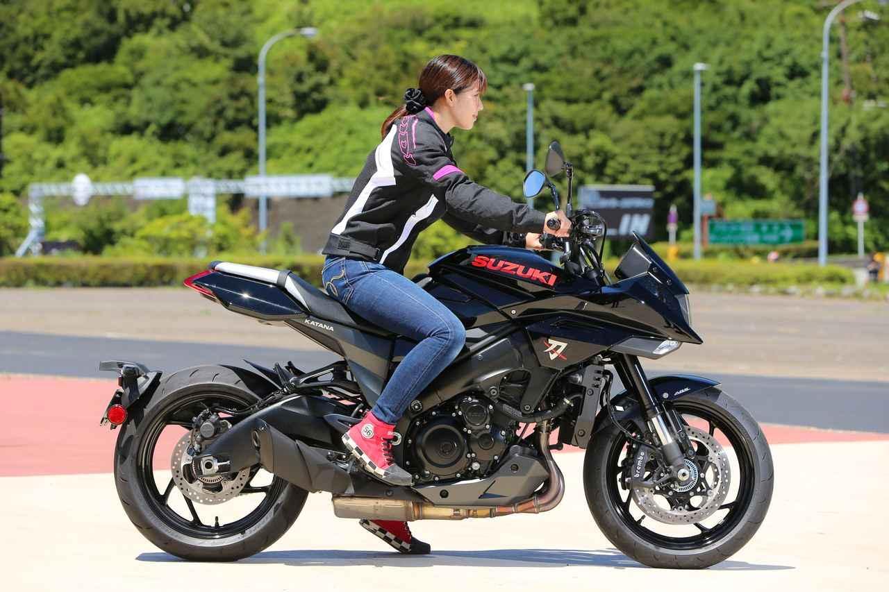 Images : 11番目の画像 - 【ゆるふわ 3枚刃】スズキKATANA試乗レポート!(梅本まどか) - webオートバイ