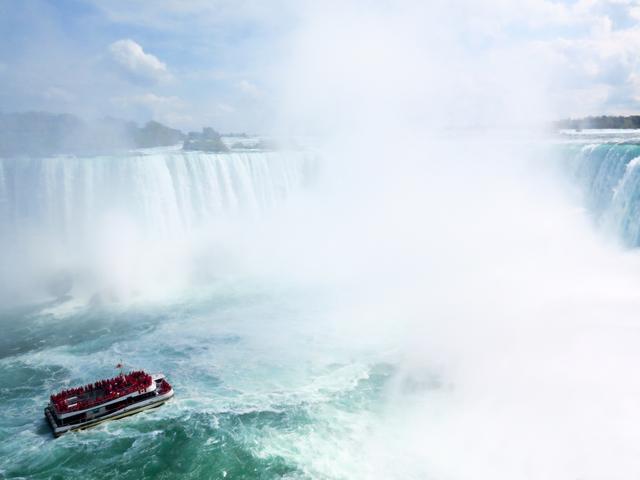 画像2: ナイアガラの滝はカナダとの間にある。ついでに国境を越えてみる!