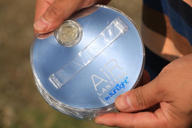 画像2: ①空気を入れて使うソーラーバッテリーランタン ランドポート「エアーランタン」