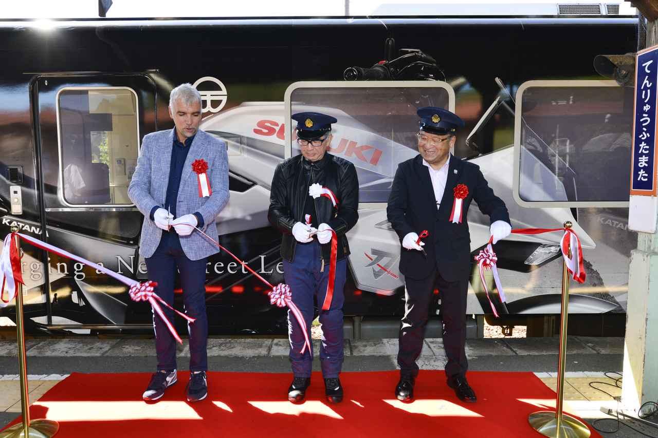 画像: 向かって左から、フラスコーリさん、鈴木社長、長谷川社長です。