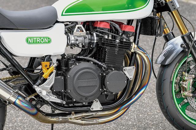 画像: エンジンはピスタル製φ77mmピストンで1230ccされる。カムはST-3相当のMccoyオリジナル品。シフトドラムもMccoy、ミッションも6速クロスのMccoyで揃えられている。