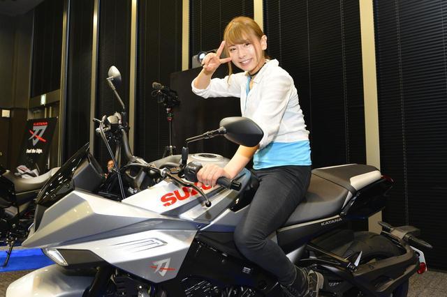 画像: 葉月美優×SUZUKI KATANA(カタナ)【オートバイ女子部のフォトアルバム】 - webオートバイ