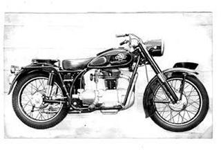 陸王モーターサイクル 350グローリー 1954 年