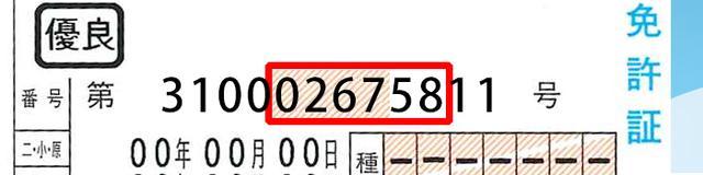 画像: この6桁は、都道府県公安委員会が割り振る番号。