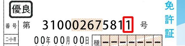 画像: 紛失した回数を表す、最後のひと桁。