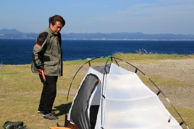画像: 途中、あまりの風の強さにキャンプを断念しようかと思うほどでした。写真だと伝わりにくいですが……。