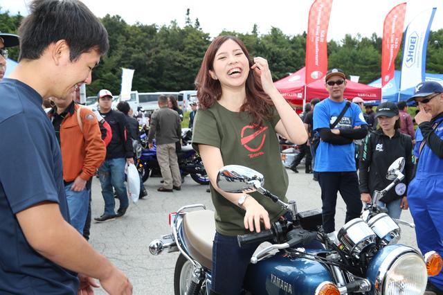 画像4: 初めてのSR400キックスタートも体験!「YAMAHA Motorcycle Day 2019」に初参加してきました!(須藤セリナ)