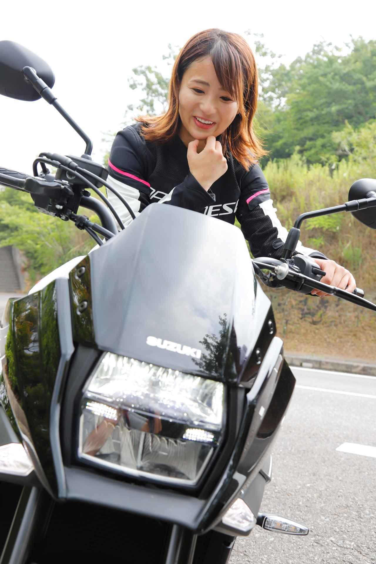 Images : 11番目の画像 - 「平嶋夏海の「つま先メモリアル」(第5回:Suzuki KATANA)【ゆるふわ 3枚刃】」のアルバム - webオートバイ