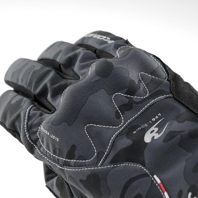 画像: 低温下でも性能変化の少ない「AIR GEL」パッドを採用した、コミネの透湿防水ウインターグローブ - webオートバイ