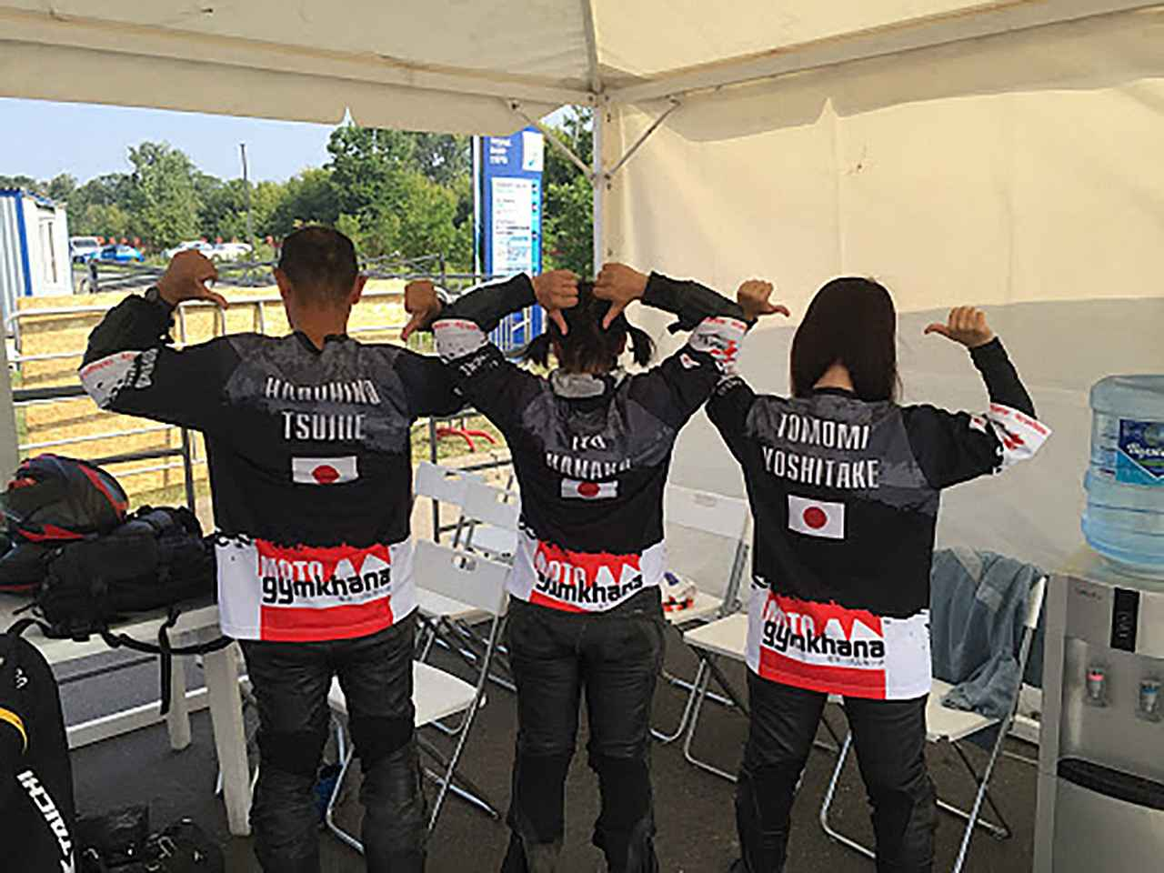 画像5: お揃いの「TEAM JAPAN」ユニフォームを着て…