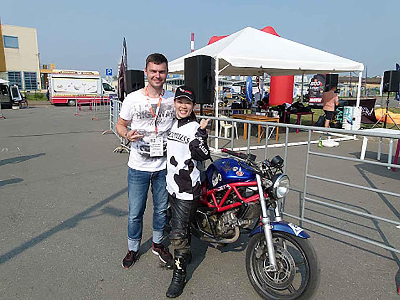 画像: 私に4日間バイクを貸してくれたエヴゲニーさんと。