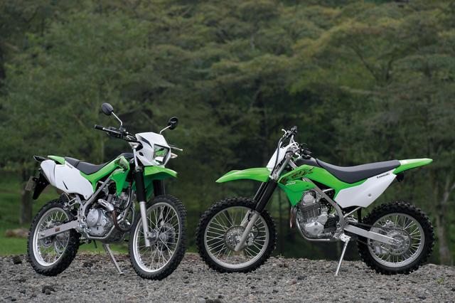 画像: (写真右)KLX230R 税込51万7000円