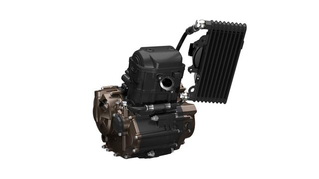 画像: 軽量・コンパクトを追求して採用された油冷シングルユニット。あえてSOHCとし、冷却フィンも省略した徹底ぶりでコンパクトさを追求。