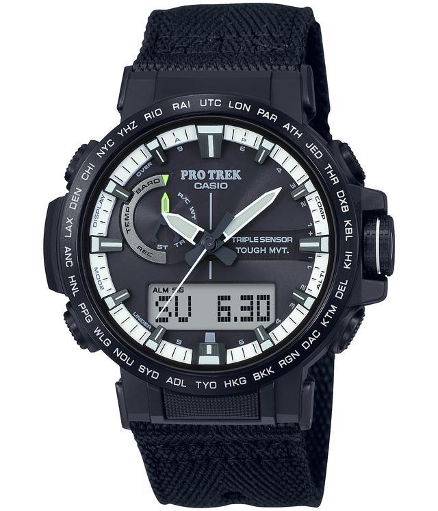 画像2: 時計自体はトリプルセンサーやタフソーラーなどを搭載し、もちろんタフネス!