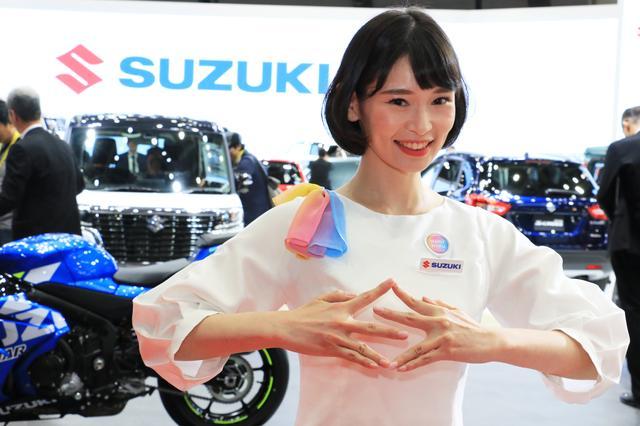 画像: SUZUKIブースはすっかり定番化されたSポーズ!