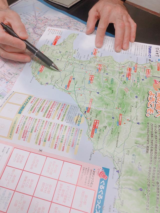 画像: 地図に印をつけて丁寧に説明してくださいました。