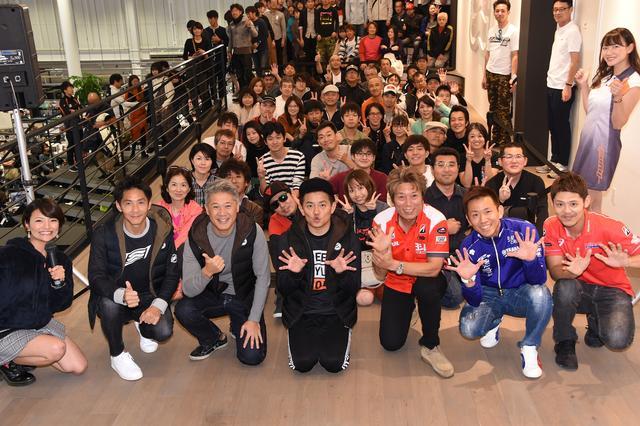 画像: トークショー終わりで記念撮影 日本のトップライダーがズラリ^^