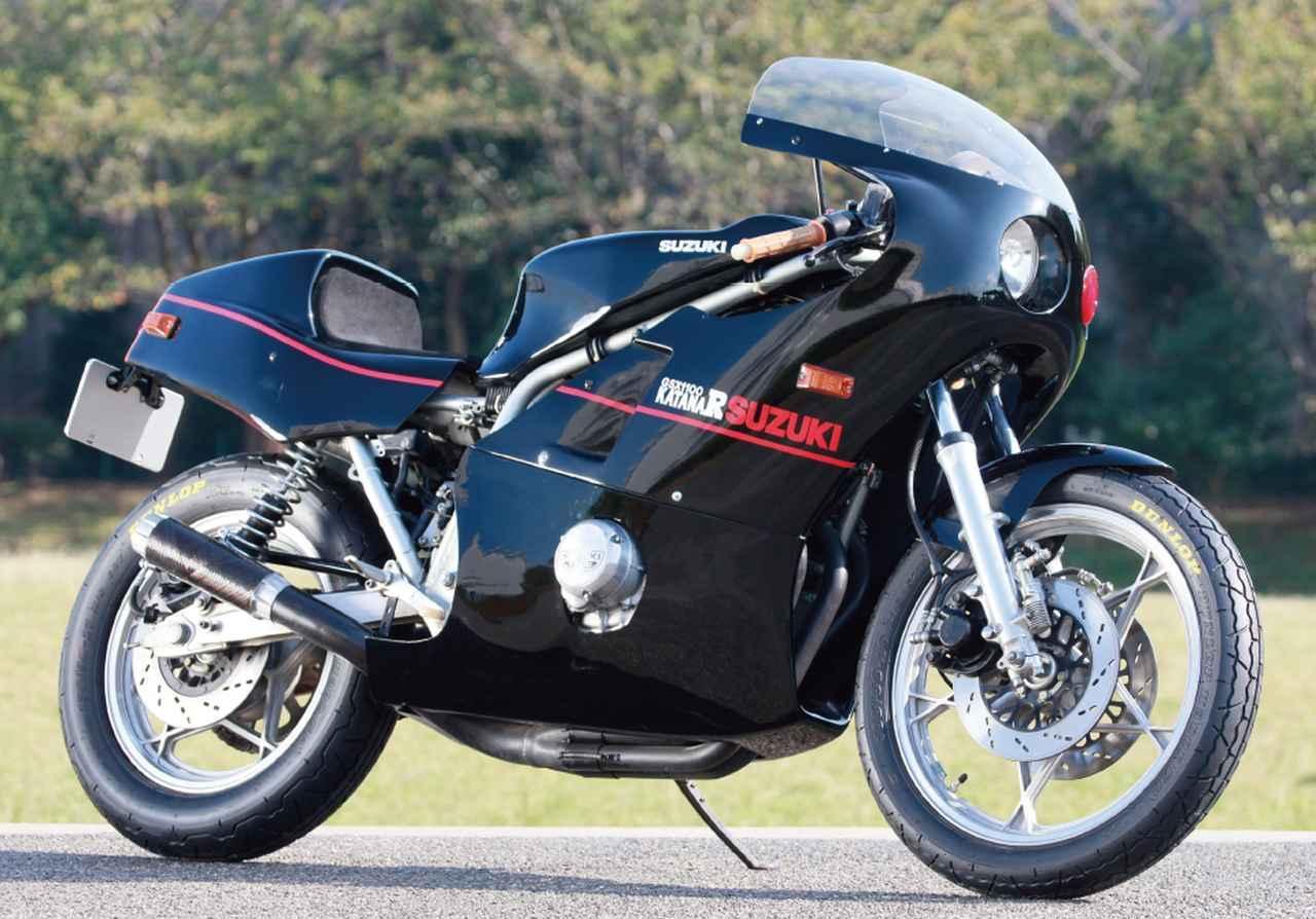画像: ▲マシンのコンセプトづくりはもちろん舘ひろし。大好きなカフェレーサースタイルに近づけるべく、フルカウル、シングルシートを基本線に、旧知のバイクショップに、ほぼワンオフ(一品製作)で作ってもらったものだった。