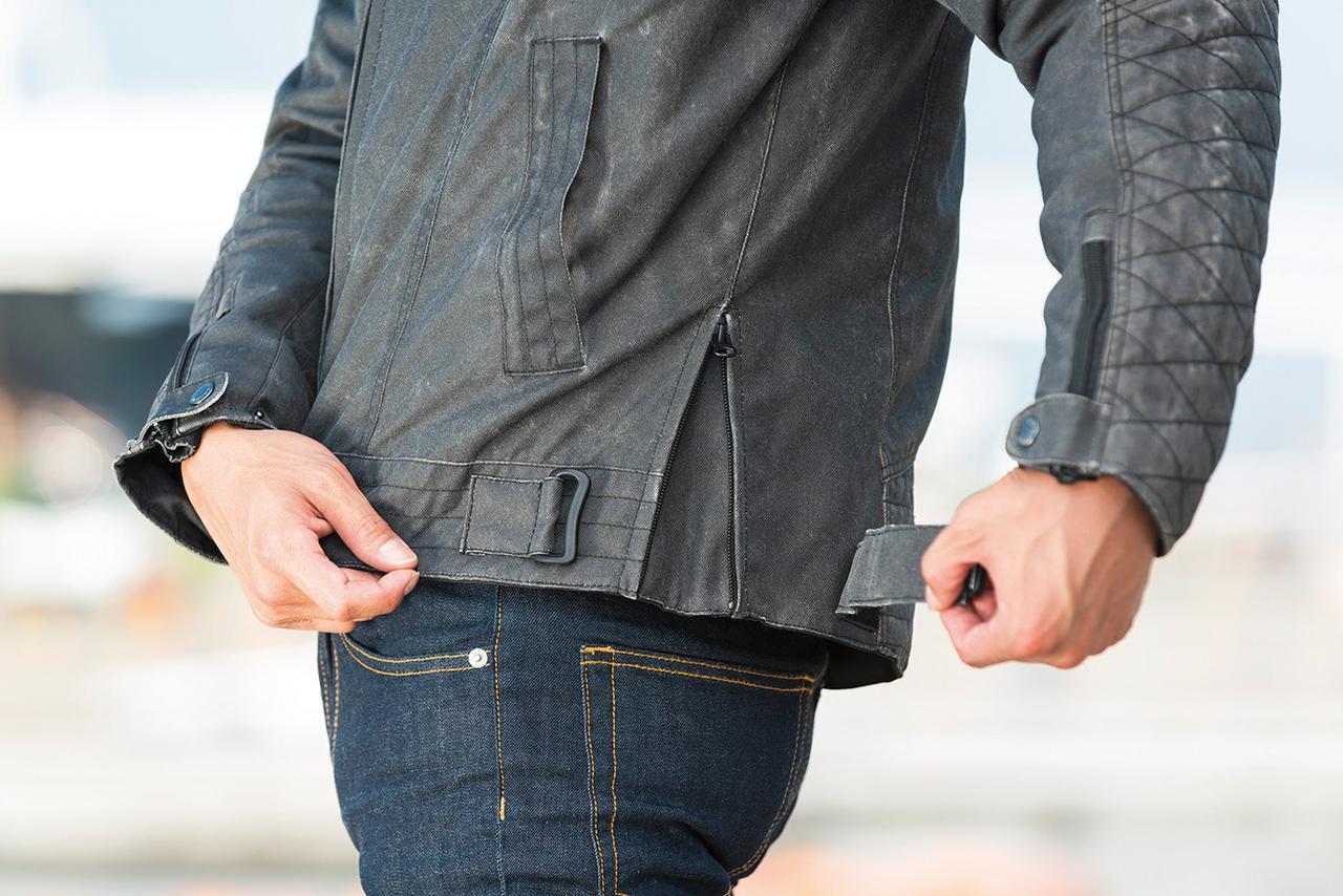 画像2: キルティング仕様のインナーはファスナーでの着脱が可能で、気温に応じた快適な着用感が可能。