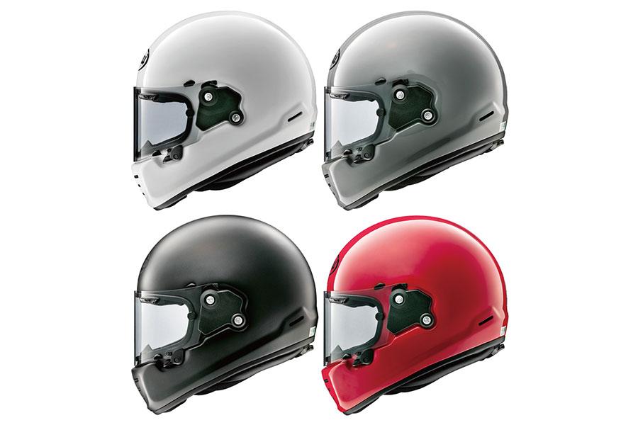 画像: 単色はモダングレー、白、赤、フラット黒の4色からチョイスできる。
