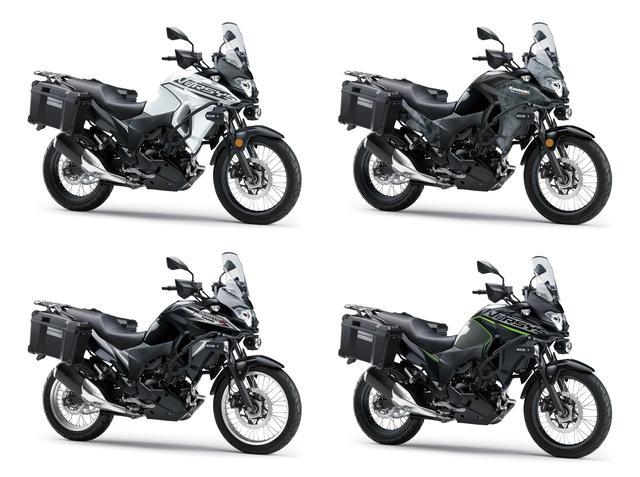 画像7: カワサキが「VERSYS-X 250 TOURER」の2020年モデルを販売開始! 初めての白ボディ、さらに都市迷彩風のグレーも新たなグラフィックで復活