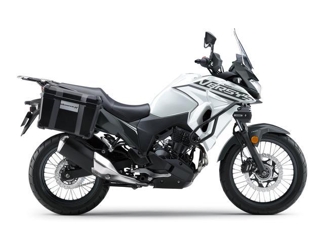 画像3: カワサキが「VERSYS-X 250 TOURER」の2020年モデルを販売開始! 初めての白ボディ、さらに都市迷彩風のグレーも新たなグラフィックで復活