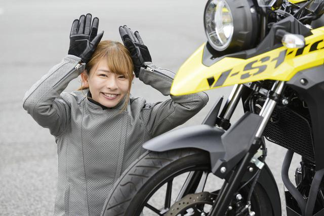 画像: 葉月美優×SUZUKI V-Strom250 ABS【オートバイ女子部のフォトアルバム】 - webオートバイ
