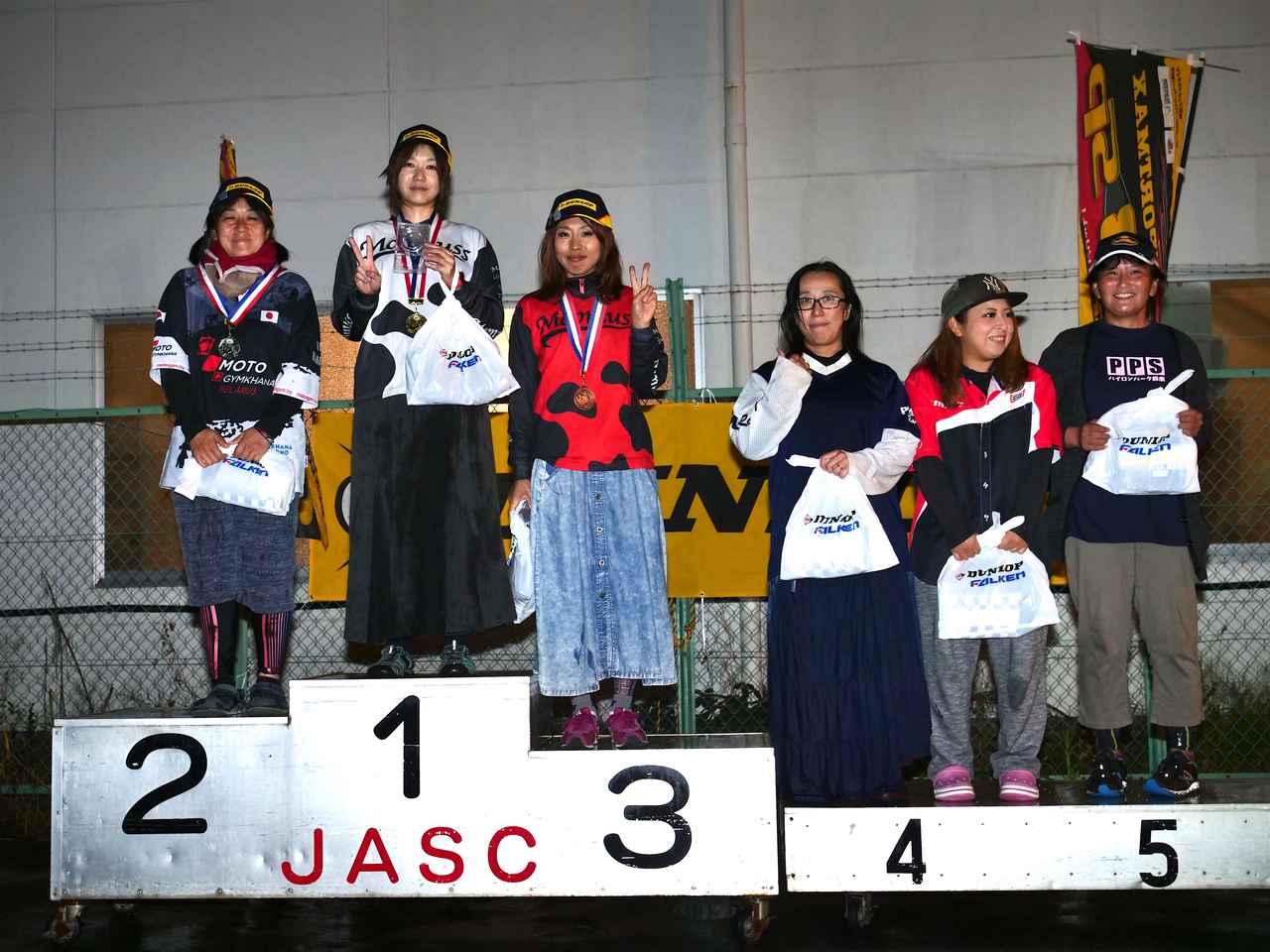 画像: 1位・山内沙世(C1級)、2位・伊藤華子(C1級)、3位・木津谷香織(C1級)、4位・本間君枝(C1級)、5位・山田 翼(C1級)、6位・中嶋ちはる(C1級)