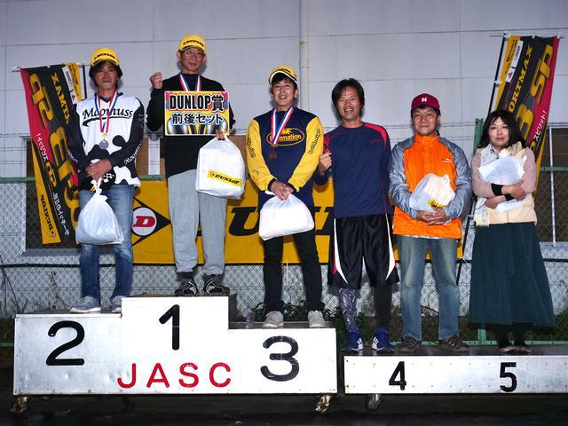 画像: 1位・宮崎栄治、2位・田村一郎、3位・明石昌和、4位・望月義司、5位・岩田 充、6位・高橋桂子