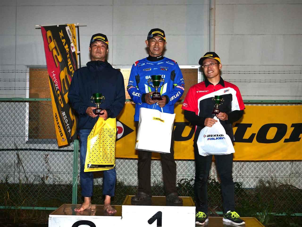 画像: 左からランキング2位・大越選手、SB級チャンピオン・辻家選手、ランキング3位・関選手