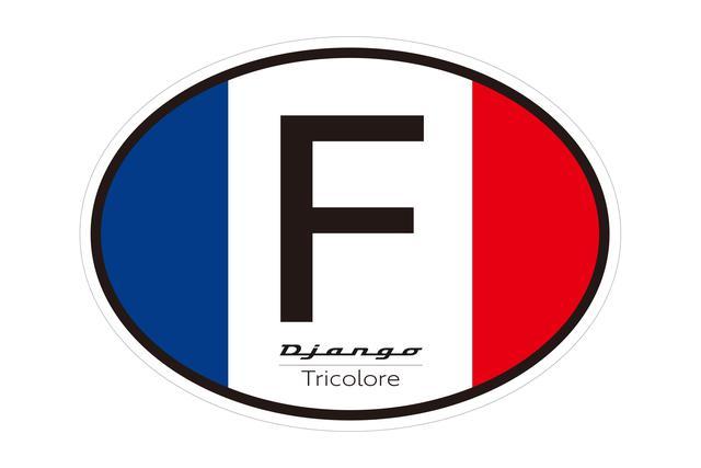 画像: ヨーロッパの四輪車で用いられている国際識別ステッカーをイメージしたサイドデカール。これが全体の大きなアクセント。フランス生まれのプジョーのバイクであることを強く表現しています。