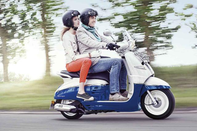 画像1: 話題のプジョー「ジャンゴ」に高速道路にも乗れる150ccと原付一種免許で運転できる50ccモデルが新登場!! - webオートバイ