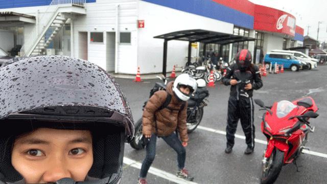 画像1: 気合いの泥ツーリング 靴を求めて土砂降りを行く!!#大林和恵 - webオートバイ