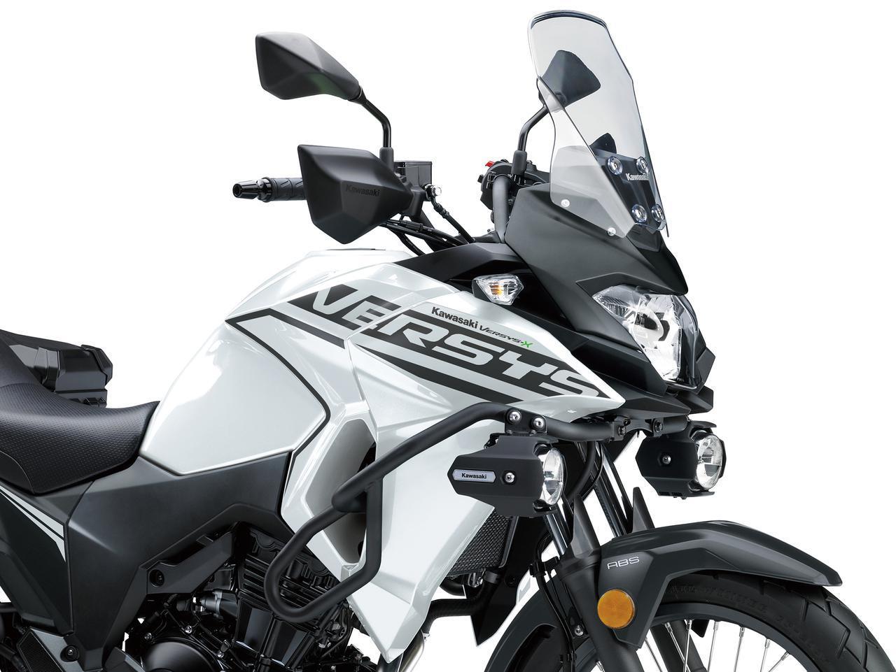 画像: カワサキが「VERSYS-X 250 TOURER」の2020年モデルを発表!初めての白ボディ、さらに都市迷彩風のグレーも新たなグラフィックで復活! - webオートバイ