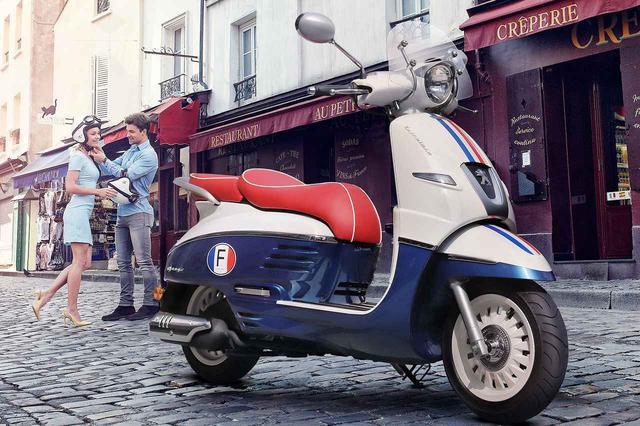 画像: 【プジョー】おしゃれなバイクとはこのこと! 125cc・150ccスクーター「ジャンゴ」のフランス感満点な限定車が発売開始 - webオートバイ