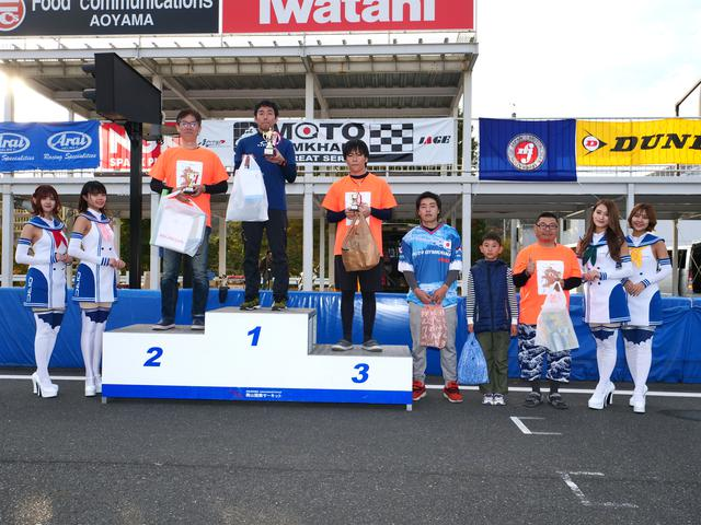 画像: 左から2位・大田直登選手、1位・野島勝成選手、3位・初田修一選手、4位・大山 涼選手、5位・長友千陽選手、6位・馬場博和選手