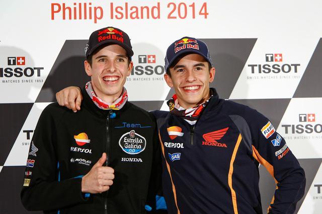 画像: 左アレックス23歳、右マルク26歳 マルケス家には地球最速のライダーが2人そろっているんです