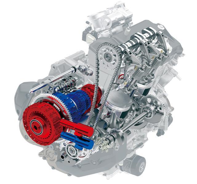 画像: ストロークアップで排気量を998㏄から1082㏄にアップした新エンジン。排気量アップしながらMTで2.5㎏、DCTで2.2㎏軽量化。