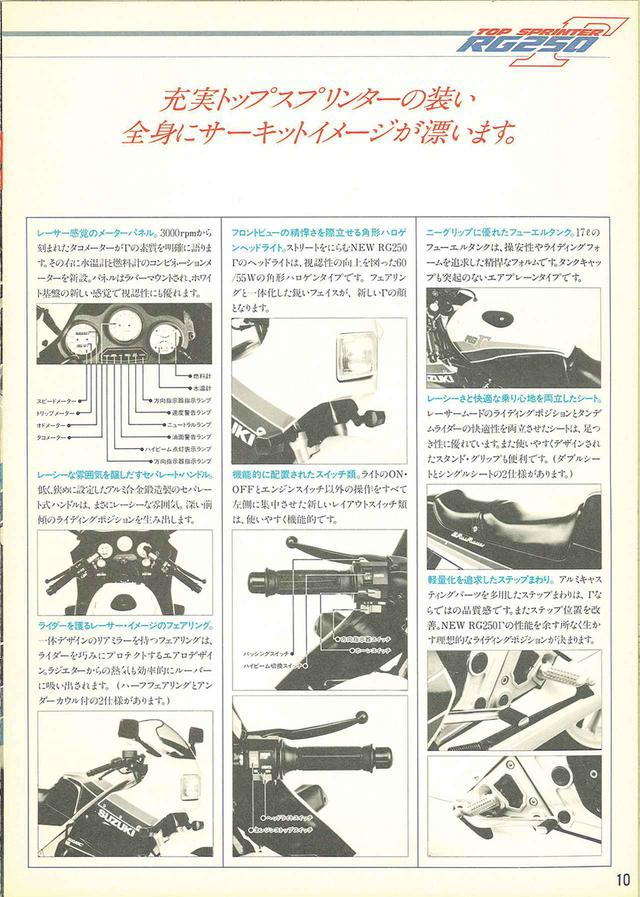 画像6: 【RG-Γ伝】Vol.2「外装や排気バルブを刷新した3型と4型」RG250Γ(GJ21B)-1985〜1986- 〜当時の貴重な資料で振り返る栄光のガンマ達〜