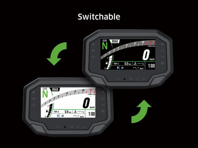 画像: メーターの背景色は白と黒で選択可能。自動調光機能も備えており、昼夜を問わず見やすい仕様に。