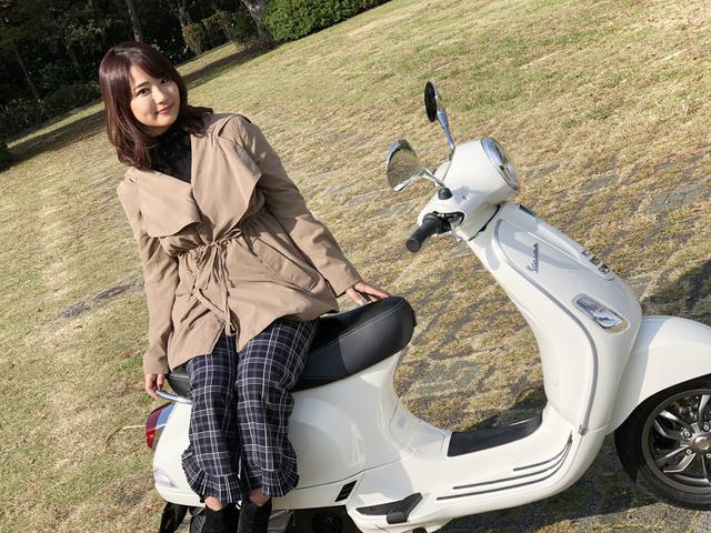 画像: ーースクーターの試乗は結構珍しいよね。Vespaに乗るのは初めて?