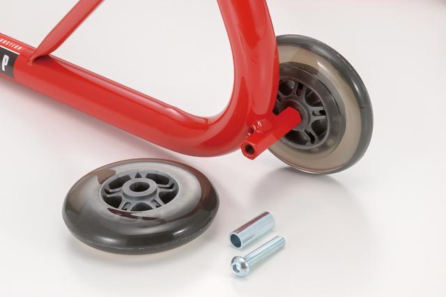 画像: 負荷のかかるタイヤ部は消耗品。写真の通り、容易に交換ができる。