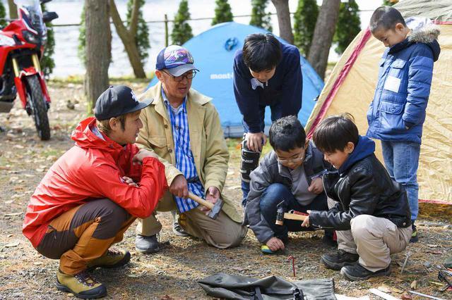 画像: キャンプの達人を講師に迎え、参加した子どもたちと一緒にテントを組むなど実践的なキャンプ講座を開催。バイクイベントでもなかなか親子で一緒に思い出作りができるのはなかなかない。