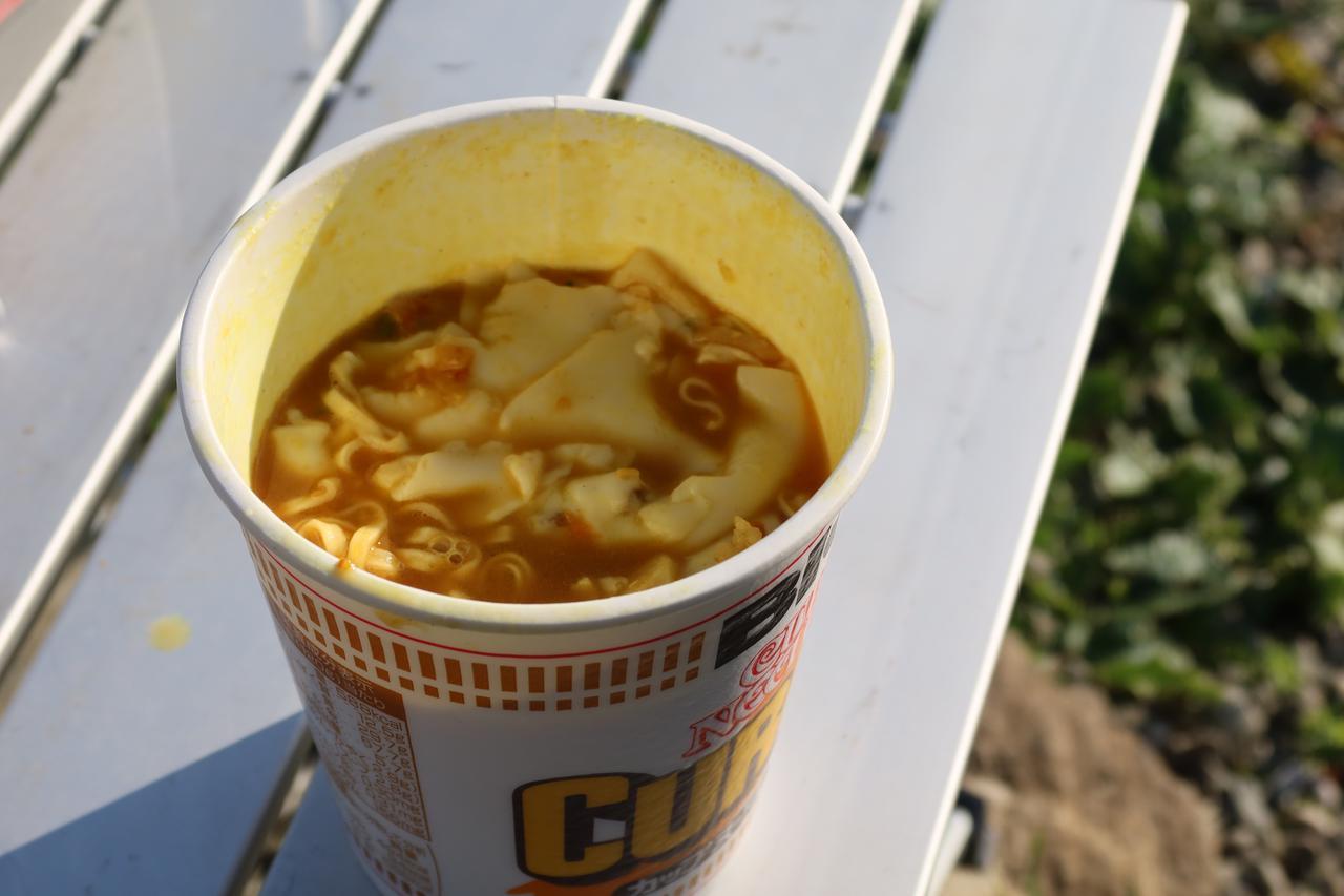 画像2: とろけるチーズをぶち込んでいくぅ! いざ実食!