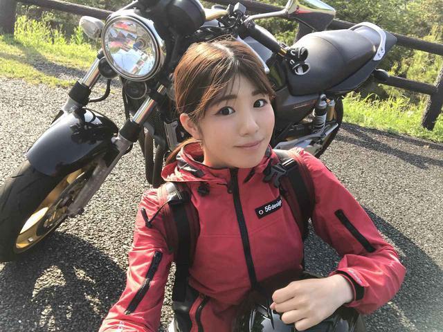 画像: バイクに乗るときは、やっぱりリュックが好き♡(梅本まどか) - webオートバイ