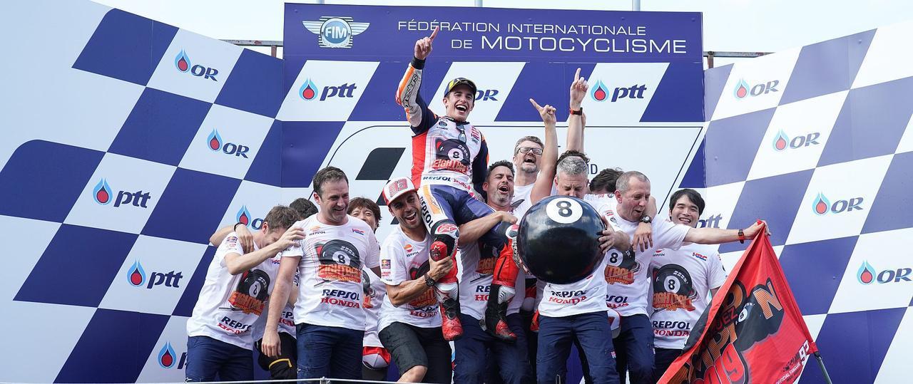 画像: <MotoGP> マルク・マルケス2019年優勝後インタビュー - webオートバイ
