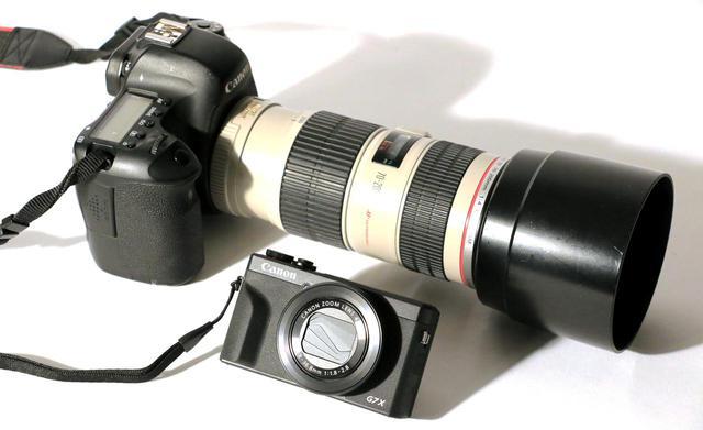 画像: 望遠レンズ付きの一眼レフと比べると、こんなにコンパクト。買ったらもう一眼レフはあんまり使わなくなっちゃうかも。