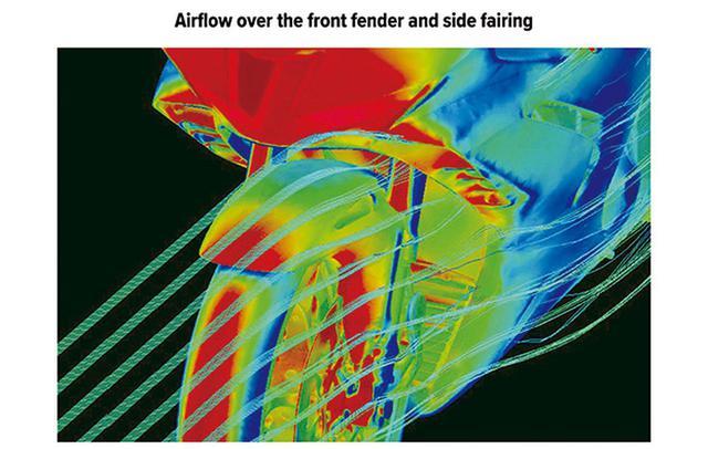 画像: フロントフェンダーからダクトウイング周辺の、スムーズな空気の流れを示す模式図。